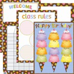 Dots On Chocolate Classroom Essentials Chart Set By Creative Teaching Press