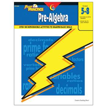 Power Practice Pre-Algebra Gr 5-8 By Creative Teaching Press
