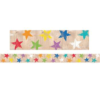 Rustic Stars Border Upcycle Style, CTP8380