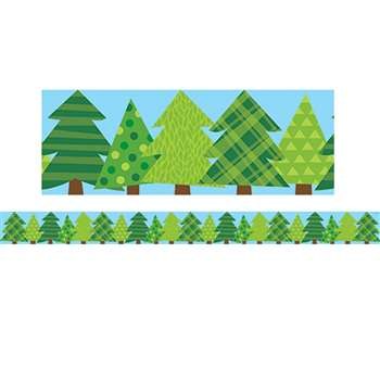Pine Trees Border No 3 Woodland Friends, CTP8386