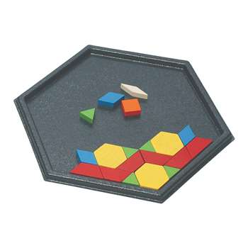 Hexagon Pattern Block Tray, CTU7143