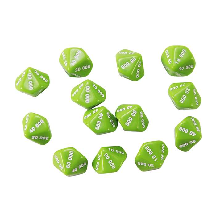 Place Value Dice Ten Thousands 12St, CTU7306