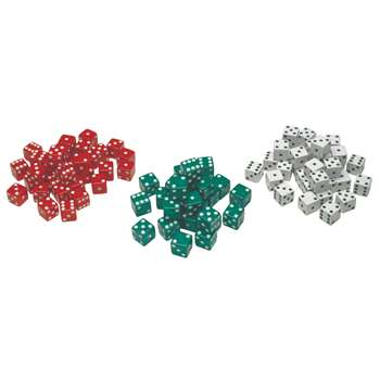 Red Green & White Dot Dice 36/Pk, CTU7366