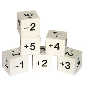 Foam Positive & Negative Number Dice, CTU7374