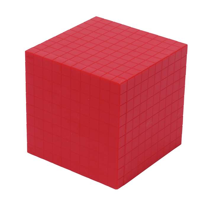 Base Ten Thousand Cube Red Single, CTU7431