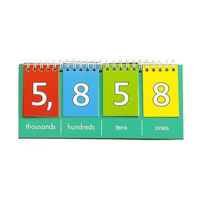 Student Place Value Thousands Flip Chart, CTU7457