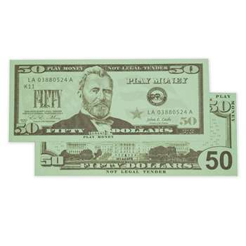 $50 Bills Set Of 50 By Learning Advantage