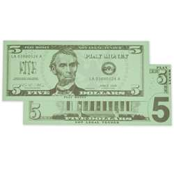 $5 Bills Set 100 Bills By Learning Advantage