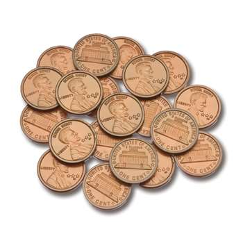 Plastic Coins 100 Pennies By Learning Advantage