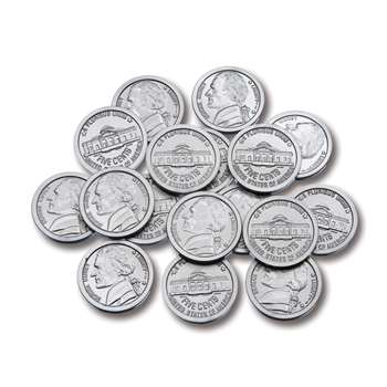 Plastic Coins 100 Nickels By Learning Advantage