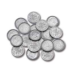 Plastic Coins 100 Dimes By Learning Advantage