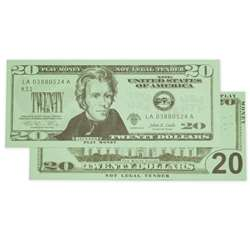 $20 Bills Set 100 Bills By Learning Advantage