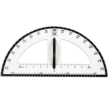 Dry Erase Magnetic Protractor By Learning Advantage