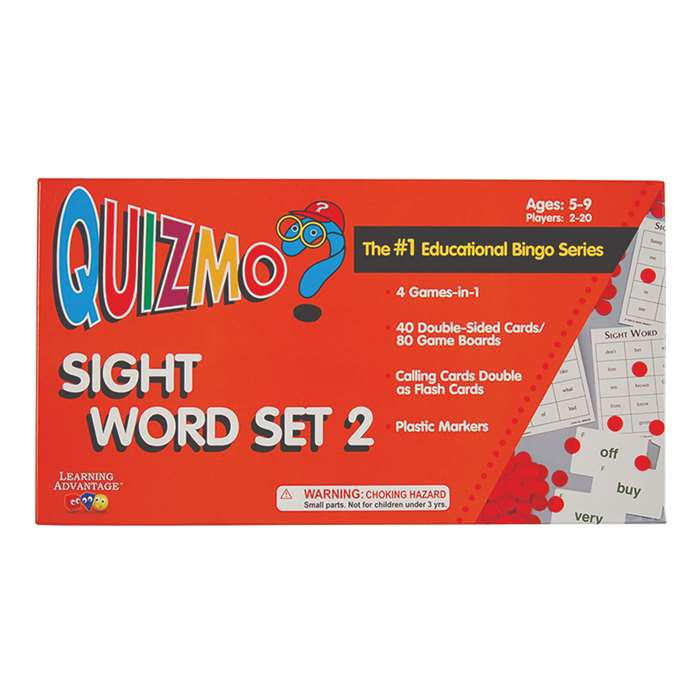 Quizmo Sight Word Set 2 By Learning Advantage
