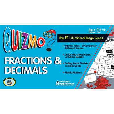 Quizmo Fractions & Decimals By Learning Advantage