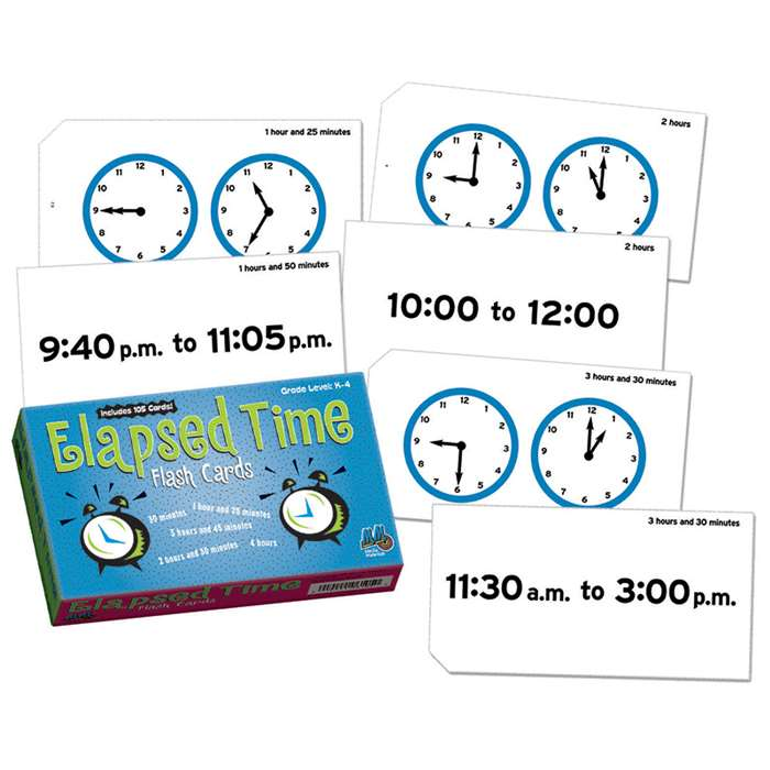 Elapsed Time Flash Cards By Learning Advantage