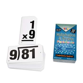 Double Value Vertical Flash Cards Multiplication Division By Learning Advantage