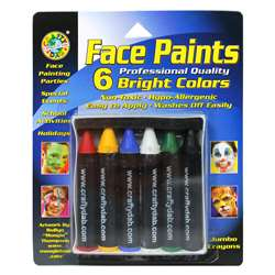 Crafty Dab Jumbo Crayon Face 6 Pk Bright Paints By Crafty Dab