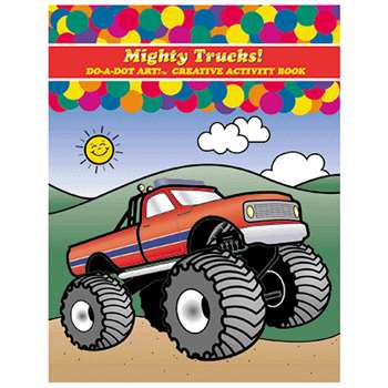 Mighty Trucks Activity Book By Do-A-Dot Art