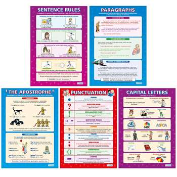 "Writing Skills (5 Poster Set) 16.5"" X 23.5"" By Daydream Education"