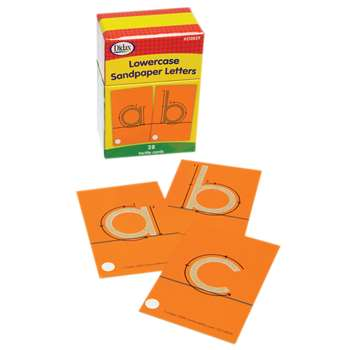 Tactile Sandpaper Lowercase Letters By Didax