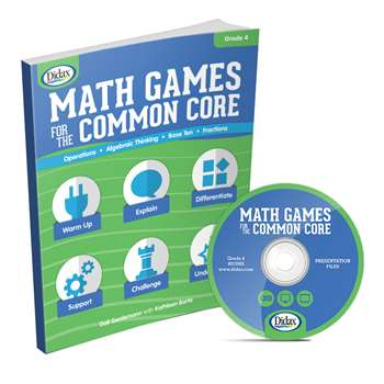 Math Games For The Common Core Gr 4, DD-211082