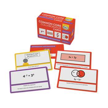 Shop Collaborative Expressions Equations Common Core Cards - Dd-211398 By Didax