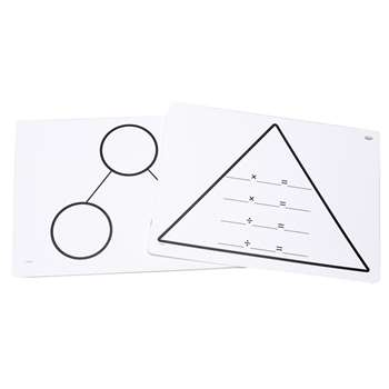Write On Wipe Off Multipl Triangle Mats, DD-211768