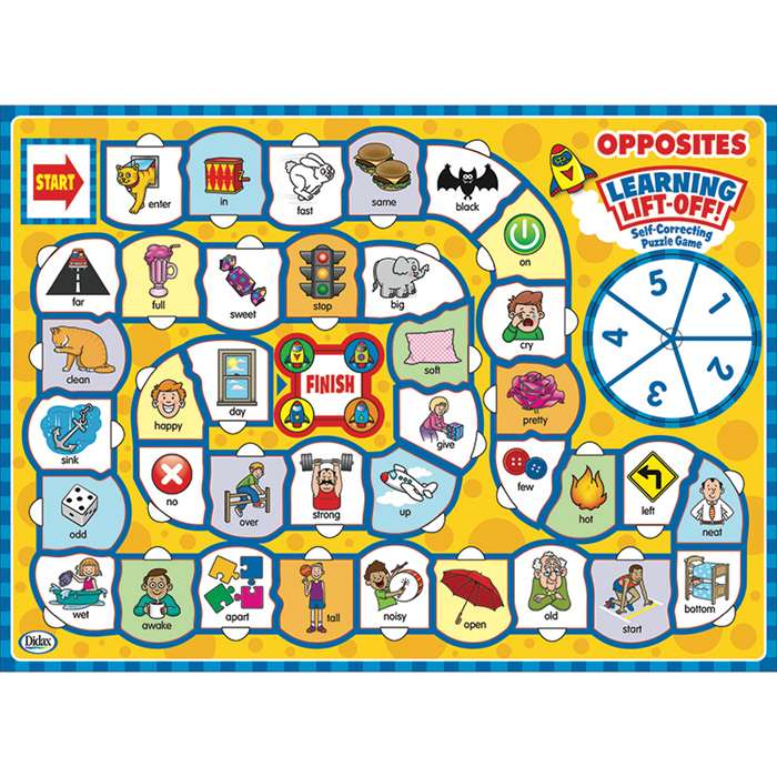 Language Learning Opposites Lift Off Puzzles, DD-212011