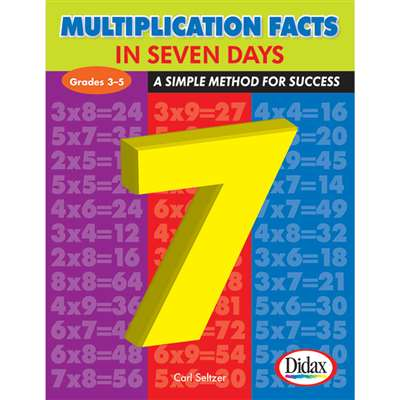 Multiplication Facts In 7 Days By Didax