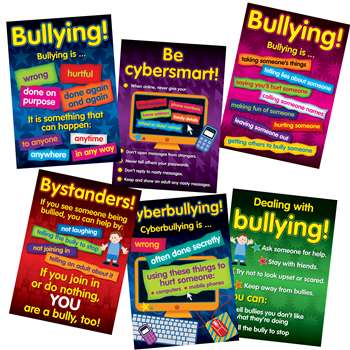 Bullying In A Cyber World Poster Set Gr 2-5 By Didax