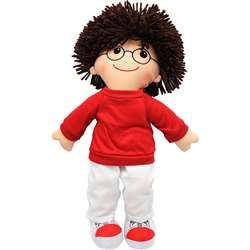 19 Soft Cuddly Doll W/ Glasses Boy By Dexter Educational Toys