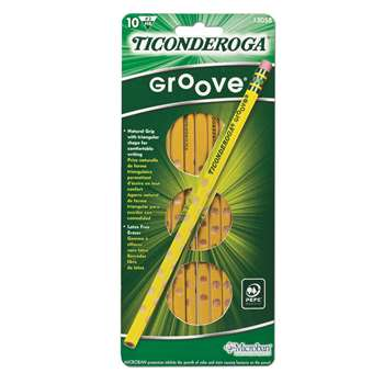 Ticonderoga Groove No 2 10Ct By Dixon Ticonderoga