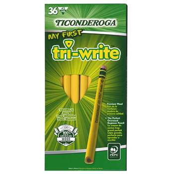 My First Tri Write Primary Pencils With Eraser By Dixon Ticonderoga