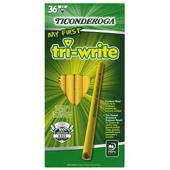 My First Tri Write Primary Pencils Without Eraser By Dixon Ticonderoga