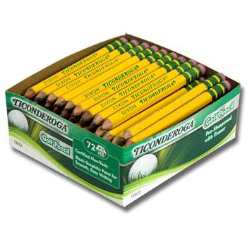 Ticonderoga Golf Pencils Box Of 72, DIX13472