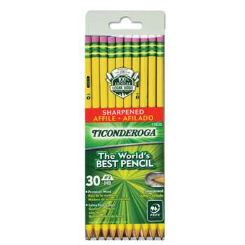 Ticonderoga No 2 Pre Sharpened 30Pk By Dixon Ticonderoga