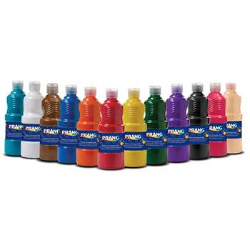 Prang Tempera Paint Set Of Twelve 16 Oz Bottles By Dixon Ticonderoga