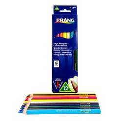 Prang Lg Triangular Colored Pencils 12 Color Set, DIX25120