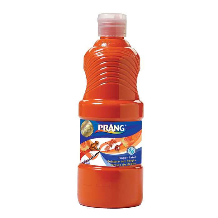 Prang Washable Finger Paint 16 Oz Orange By Dixon Ticonderoga