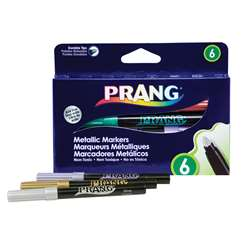 Prang Metallic Art Markers Bullet Tip 6 Count By Dixon Ticonderoga