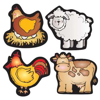 Farm Friends Shape Stickers By Carson Dellosa
