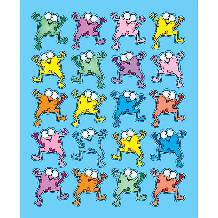 Colorful Froggies Stickers By Carson Dellosa