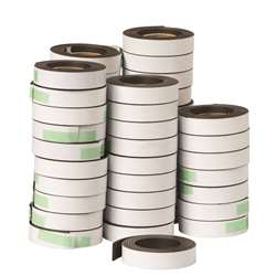 Bucket Of 48 Rolls 1/2 X 30 Strip W/ Adh By Dowling Magnets