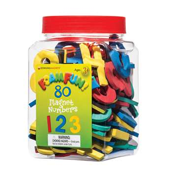 80 Foam Fun Magnet Numbers By Dowling Magnets