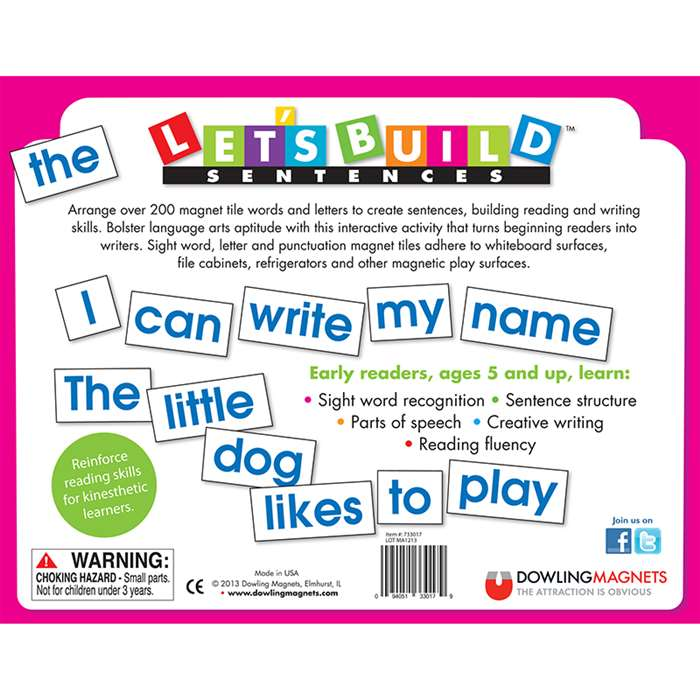 Shop Lets Build Sentences - Do-733017 By Dowling Magnets