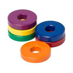 Six 1 1/8 Ceramic Ring Magnets By Dowling Magnets