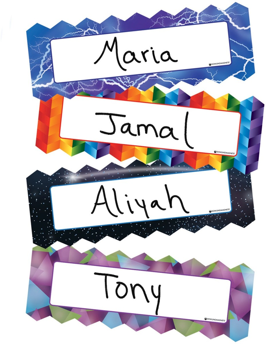 Zigzag Amp Lighting Magnetic Name Plates Do 735215 Dowling