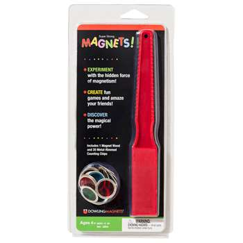 Magnetic Wand & 20 Counting Chips By Dowling Magnets