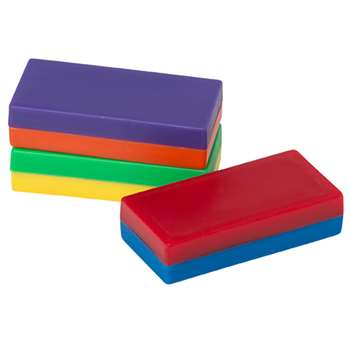 Plastic Encased Block Magnets 12 Pcs By Dowling Magnets
